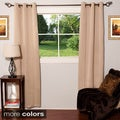 Light-reducing Thermal Woven Grommet Top Curtain Panel Pair