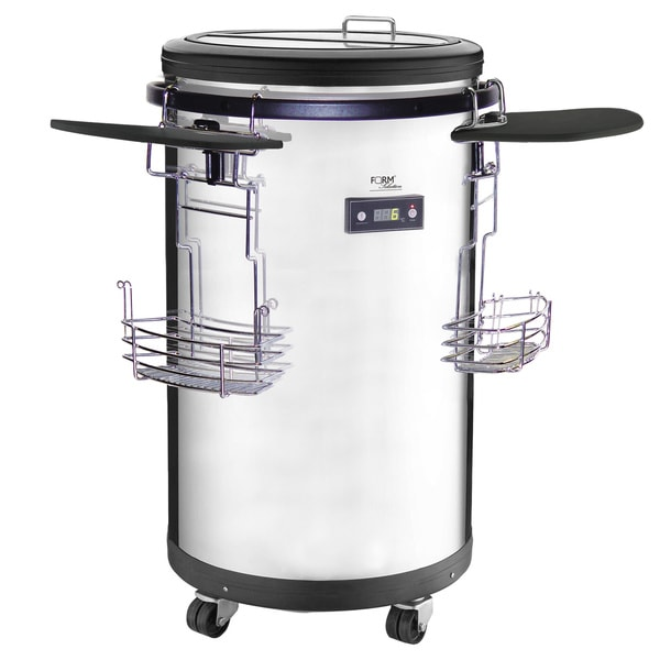 Single-zone 1.77 cu ft Refrigerated Stainless Steel Party Cooler