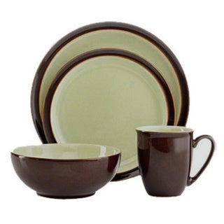 Denby Duets Chestnut/Apple 4-piece Place Setting