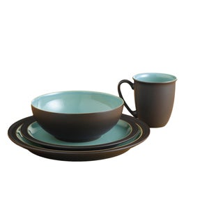 Denby Duets Brown and Turquoise 4-piece Place Setting