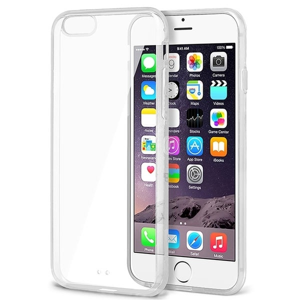 INSTEN Clear Snap-on Phone Case Cover Protector with Color Bumper For iPhone 6