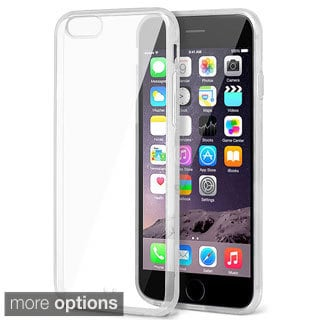 INSTEN Clear Snap-on Phone Cover Protector with Color Bumper For iPhone 6 Plus