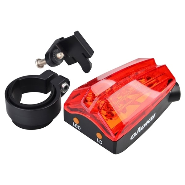 INSTEN Bicycle 5 Red LED Rear Tail Lamp Cycling Super Bright Light