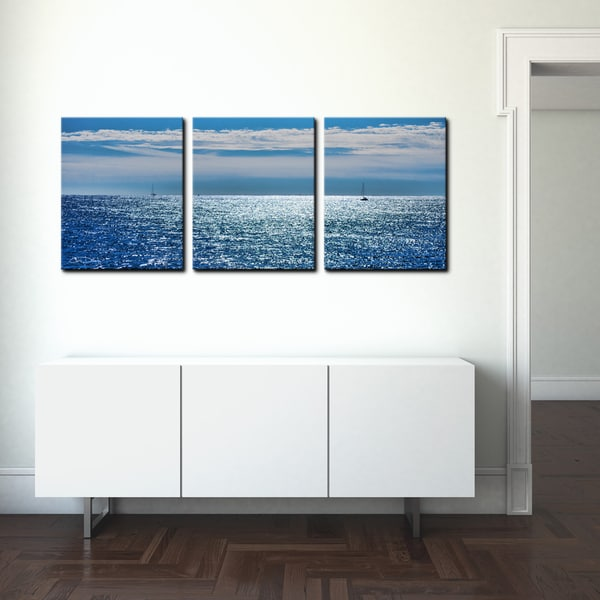 ready2hangart chris doherty 39 oceans 39 3 piece canvas wall. Black Bedroom Furniture Sets. Home Design Ideas