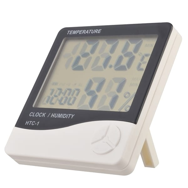 INSTEN Digital LCD Thermometer Hygrometer Humidity Tempreture Meter Clock