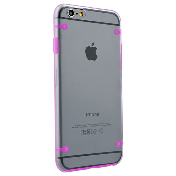 INSTEN Clear Snap-on Phone Case Protector with Color TPU Bumper For iPhone 6 Plus