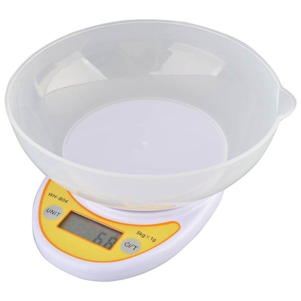 INSTEN Compact Digital Kitchen Diet Food Scale with Removable Bowl