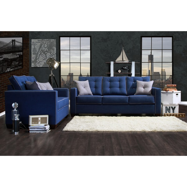 Furniture of america lennons urban 2 piece upholstered for Sofa set deals