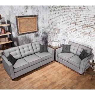 Furniture of America Lennons Urban 2-Piece Upholstered Sofa Set