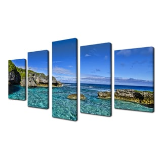 Ready2hangart Chris Doherty 'Grunge Pano II' 5-piece Canvas Wall Art