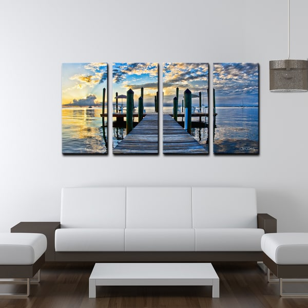 ready2hangart chris doherty 39 key largo 39 4 piece canvas. Black Bedroom Furniture Sets. Home Design Ideas