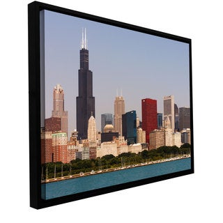 Cody York 'Chicago' Floater-framed Gallery-wrapped Canvas