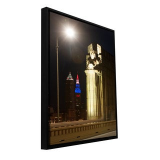 Cody York 'Cleveland 6' Floater-framed Gallery-wrapped Canvas