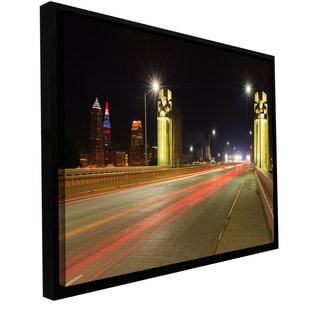 Cody York 'Cleveland 7' Floater-framed Gallery-wrapped Canvas