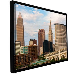 Cody York 'Cleveland 9' Floater-framed Gallery-wrapped Canvas