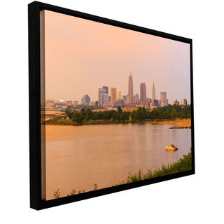 Cody York 'Cleveland 19' Floater-framed Gallery-wrapped Canvas