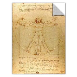 Leonardo DaVinci 'Vitruvian Man' Removable Wall Art