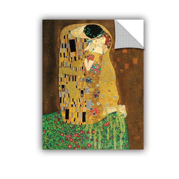 Gustav Klimt 'The Kiss' Removable Wall Art