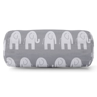 Ellie Elephant Pattern Round Bolster Pillow