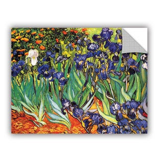 Vincent van Gogh 'Irises in the Garden' Removable Wall Art