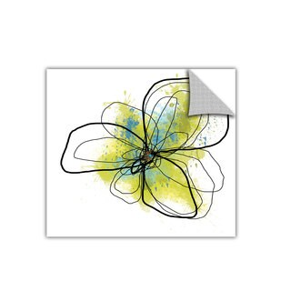 Jan Weiss 'Citron Petals II' Removable Wall Art
