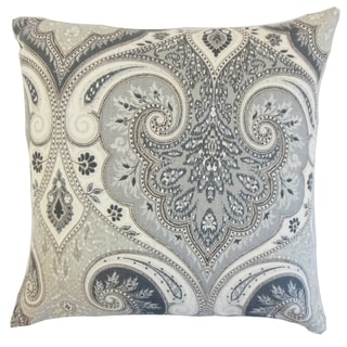 Kirrily Shadow Damask 18-inch Feather Throw Pillow