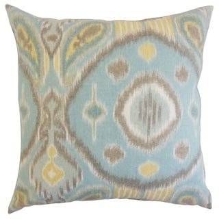 Janvier Spa Ikat 18-inch Feather Throw Pillow