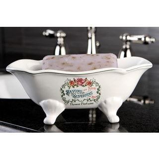 Savons Aux Fleurs Wave Double Ended Clawfoot Tub Soap Dish