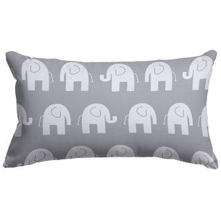 Ellie Elephant Pattern 12 x 20-inch Accent Pillow