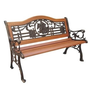 Polo Cast Iron Park Bench