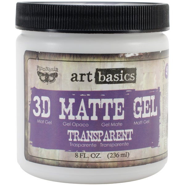 Art Basics 3D Matte Gel 8oz-Transparent