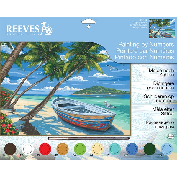"Paint By Number Kit 12""X16""-Tropical Beach"