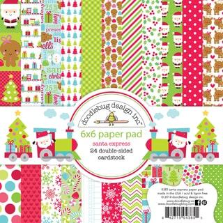 "Doodlebug Paper Pad 6""X6"" 24/Pkg-Santa Express"