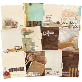 """Sn@p! Double-Sided Recipe Divider Pages 6""""X8"""" 12/Pkg-Legacy"""