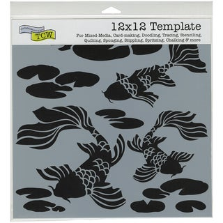 "Crafter's Workshop Template 12""X12""-Koi Pond"