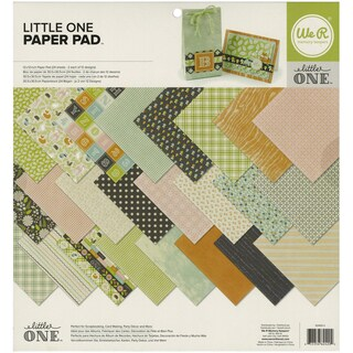 """We R Memory Keepers Paper Pad 12""""X12"""" 24/Pkg-Little One"""