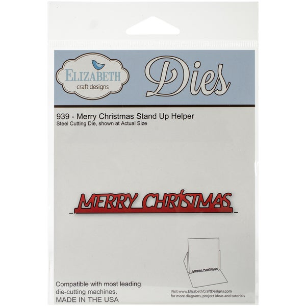 Elizabeth Craft Metal Die-Merry Christmas Stand Up Helper
