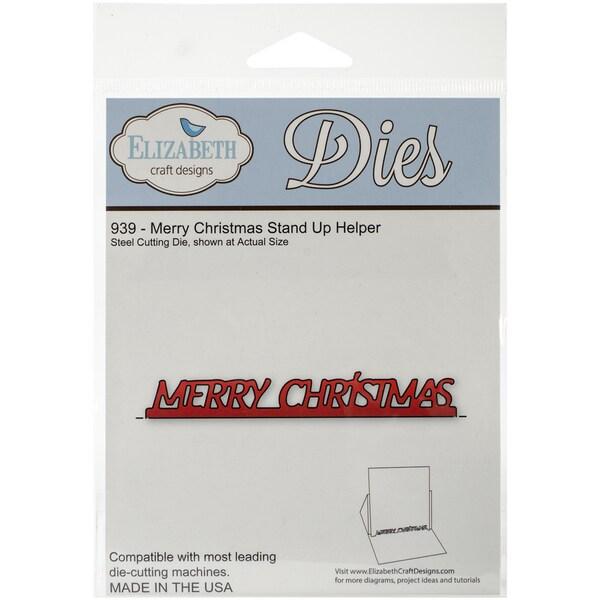 Elizabeth Craft Metal Die-Merry Christmas Stand Up Helper