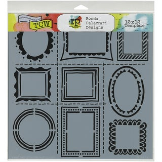 """Crafter's Workshop Template 12""""X12""""-Hand Drawn Frames"""