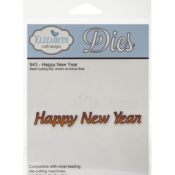 Elizabeth Craft Metal Die-Happy New Year