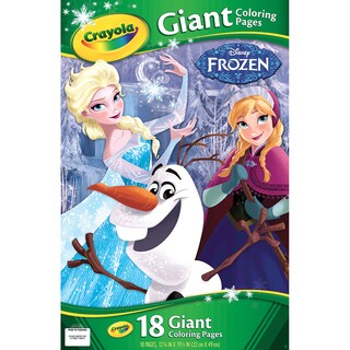 "Crayola Giant Disney Coloring Book 12.75""X19-7/16"" 18pg-Frozen"