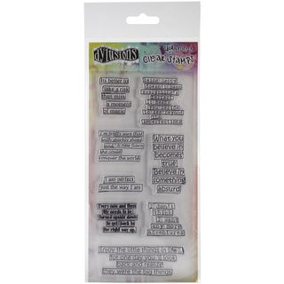 "Dyan Reaveley's Dylusions Clear Stamps 4""X8""-Clearly Quotes"