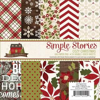 """Simple Stories Paper Pad 6""""X6"""" 24/Pkg-Cozy Christmas"""