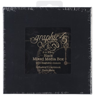 "Staples Mixed Media Box 5""X5""-Black"