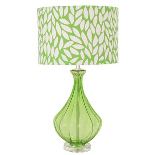 Cool Green Contemporary Glass Acrylic Accent Table Lamp
