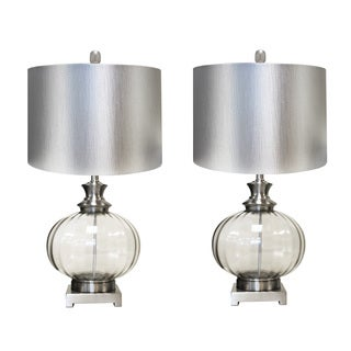 Casa Cortes Gabriella 28-inch Metallic Glass Table Lamp (Set of 2)