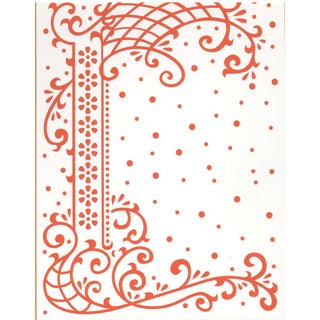 "Marianne Design Embossing Folder 4""X5""-Anja's Decorative Border"