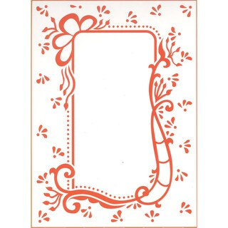 "Marianne Design Embossing Folder 4""X5""-Anja's Decorative Rectangle"