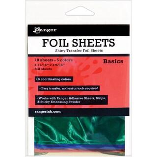 Ranger Shiny Transfer Foil Sheets 10/Pkg-Basics