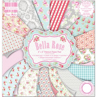 "First Edition Premium Paper Pad 6""X6"" 64/Pkg-Bella Rose"